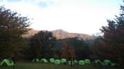 テント泊の朝