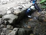 沢登り④土管をくぐって
