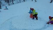 雪を集めて
