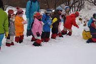 雪遊び場に到着!!