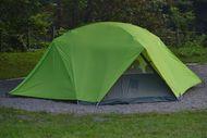 テントで迎える朝