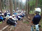 こちらは林業体験場