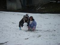 かわいい雪だるまが現れました