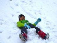 そして雪遊び