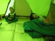 テントの中は意外と広い!