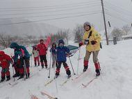 こちらは歩くスキーです