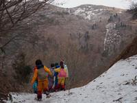 登山練習(帰り道)
