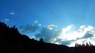 きれいな空。明日ももってくれることを祈るばかり
