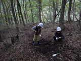 森の階段づくり