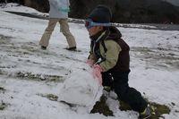 大きな雪玉
