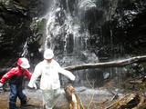 滝まで到着