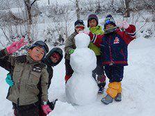 雪だるまも作ったよ(^o^)