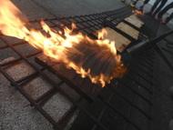 板を焼くので焼き板