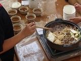 夕食(鹿肉のすき焼き)