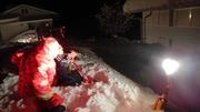 ナイト雪遊び