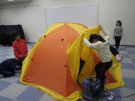 明日に向けてテント練習