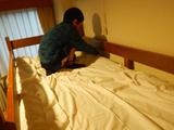 寝具整備中