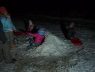 夜も雪あそび