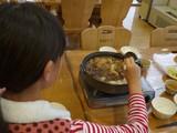 夕食はシカ鍋