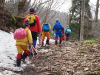 登山練習(森の中)